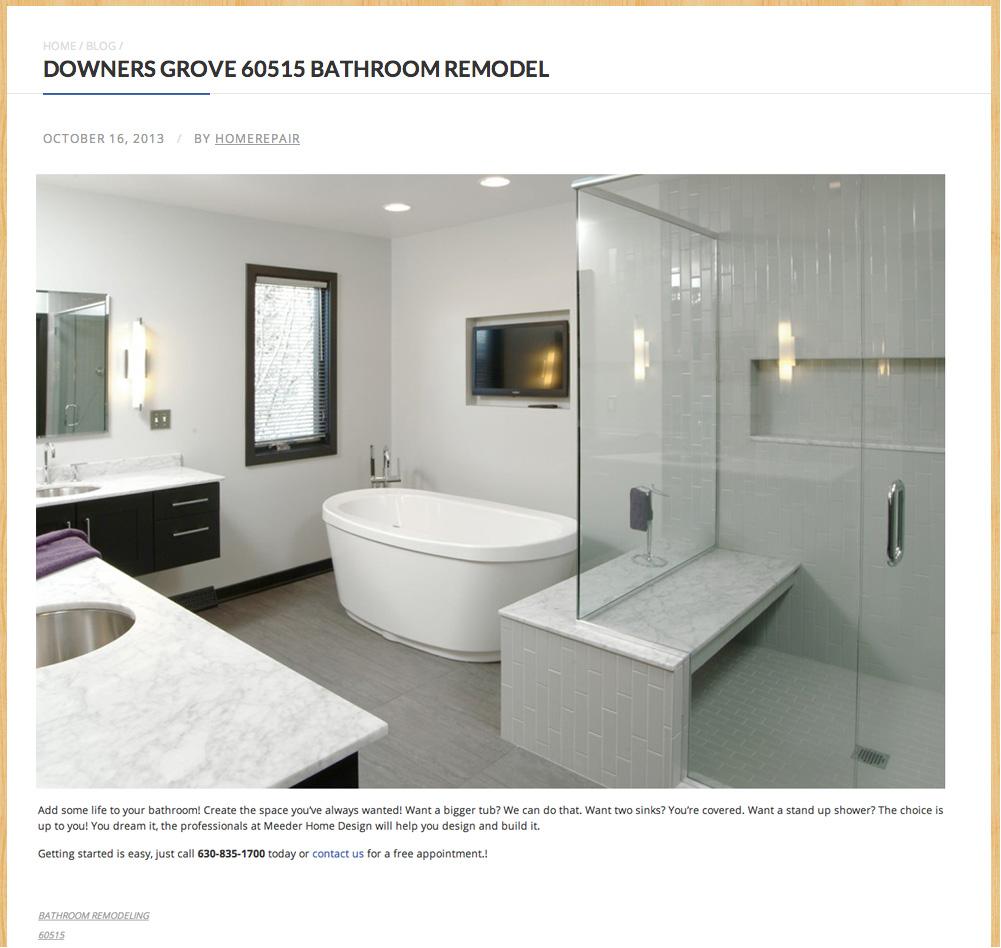 DOWNERS GROVE 60515 BATHROOM REMODEL